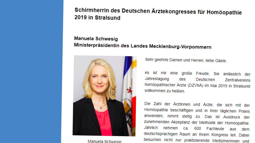Schirmherrschaft in der Kritik: Peinliche Fehler im Grußwort von Manuela Schwesig