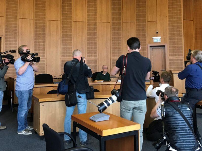Foto von Heilpraktiker Klaus R bei Urteilsverkündung am Landgericht Krefeld