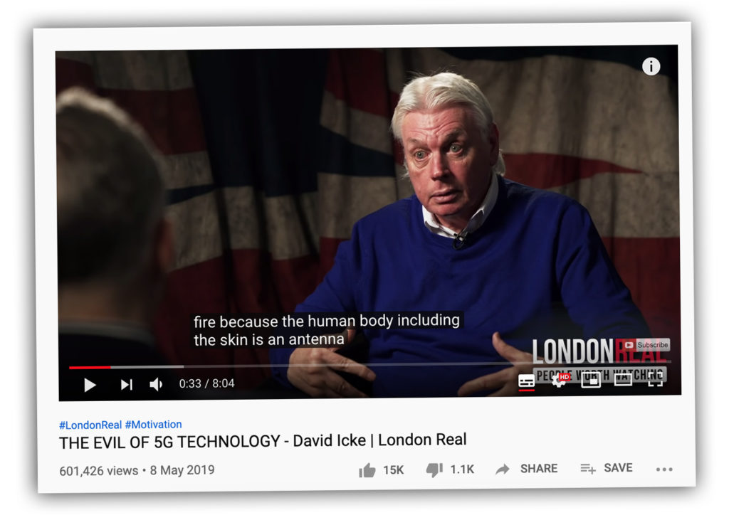Screenshot aus einem Video mit David Icke