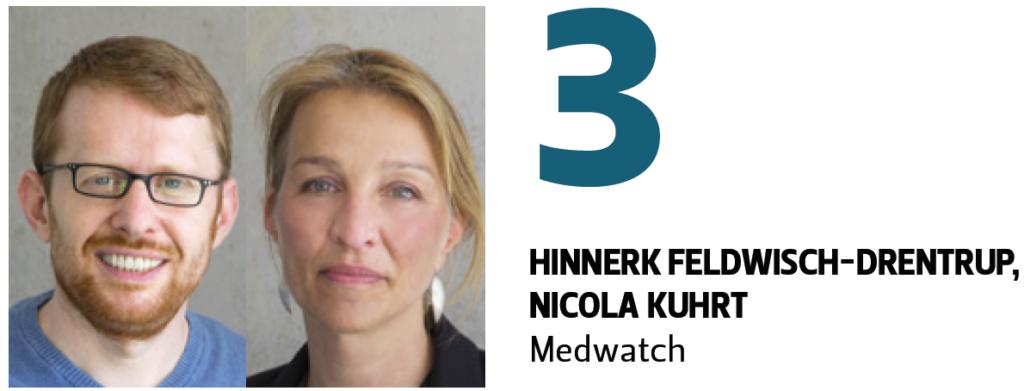 Auszug Medium-Magazin Platz 3 Wissenschaftsjournalist des Jahres 2018 für Nicola Kuhrt und Hinnerk Feldwisch-Drentrup