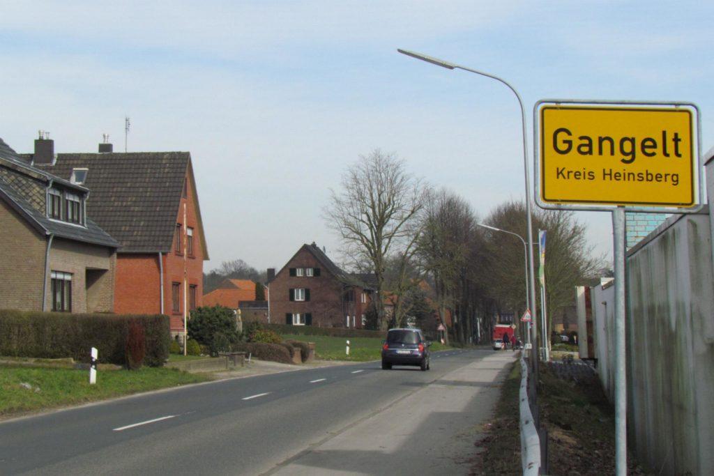 Foto vom Ortseingang von Gangelt